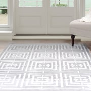Lavish Home Athens Area Rug - Grey & White - 4'x6' (62-2039A-46)
