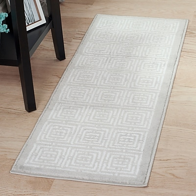 Lavish Home Athens Rug - Grey & White - 1'8