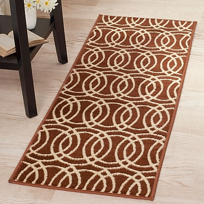 Lavish Home Geometric Brick Area Rug - Brick & Gold - 1'8