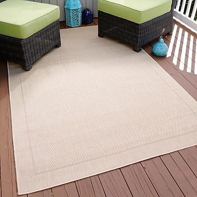 Lavish Home Border Indoor/Outdoor Area Rug - Beige - 5'x7'7