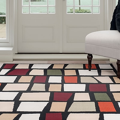 Lavish Home Contemporary Color Blocks Area Rug - Multi-Color - 3'3'x5' (62-56215BM-335)