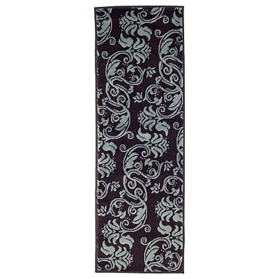 Lavish Home Floral Scroll Area Rug - Brown & Blue - 1'8