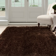 "Lavish Home Shag Area Rug - Chocolate - 3'3""x5' (62-CHO335)"