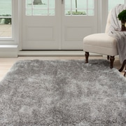 "Lavish Home Shag Area Rug - Grey - 3'3""x5' (62-GRE335)"