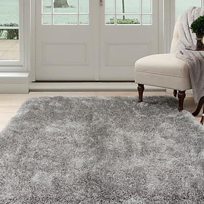 Lavish Home Shag Area Rug - Grey - 3'3