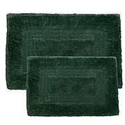 Lavish Home 100% Cotton 2 Piece Reversible Rug Set - Green (67-0018-G)