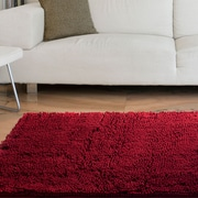 "Lavish Home High Pile Shag Rug Carpet - Burgundy - 21"" x 36""  (67-12-BU)"