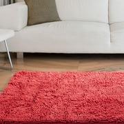 """Lavish Home High Pile Shag Rug Carpet - Coral- 21"""" x 36""""  (67-12-C)"""