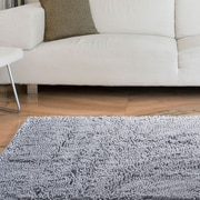 "Lavish Home High Pile Shag Rug Carpet - Grey - 21"" x 36""  (67-12-G)"