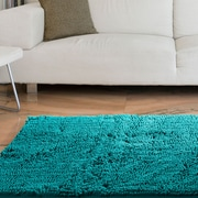"Lavish Home High Pile Shag Rug Carpet - Seafoam - 21"" x 36""  (67-12-SF)"