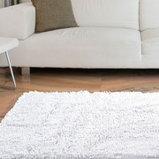 "Lavish Home High Pile Shag Rug Carpet - White - 21"" x 36""  (67-12-W)"