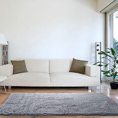 Lavish Home High Pile Shag Rug Carpet - Grey - 30