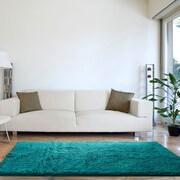 """Lavish Home High Pile Shag Rug Carpet - Seafoam - 30"""" x 60"""" (67-13-SF)"""