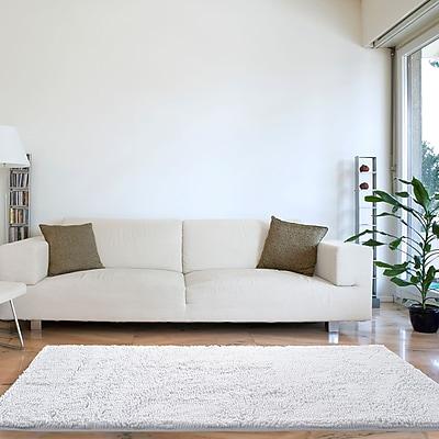 Lavish Home High Pile Shag Rug Carpet - White - 30