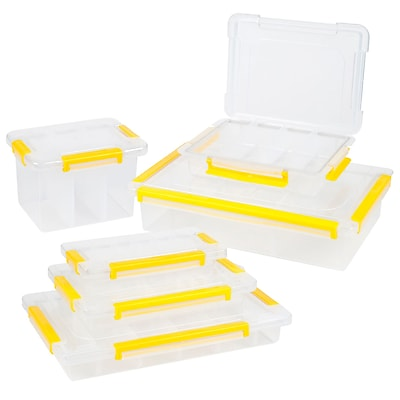 Stalwart Parts & Crafts Storage Organizers 6 Tool Box Set (75-31006PC)