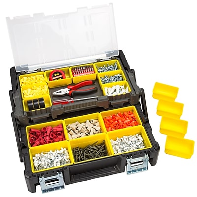 Stalwart Parts & Crafts Tiered Storage Tool Box - 18 Inch (75-MJ5051)