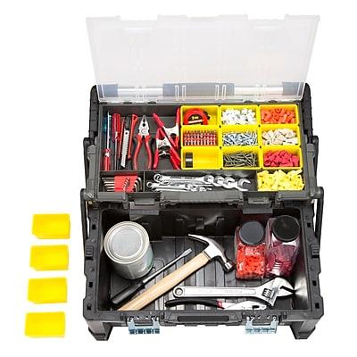 Stalwart Parts & Crafts Tiered Storage Tool Box - 22 Inch (75-MJ5051B)