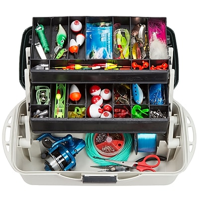 Wakeman Fishing 2 Tray Tackle Box Organizer - 14 inch (75-MJ2075)