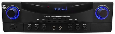 Pyle® PT570AU 350W 5.1-Channel Receiver With AM/FM Radio, USB Port And SD Card Port