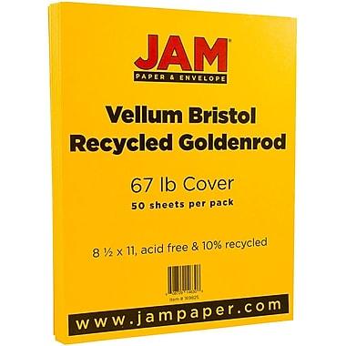 JAM Paper® Vellum Bristol Cardstock, 8.5 x 11, 67lb Goldenrod Yellow, 50/pack (169825)