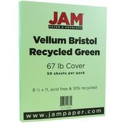 JAM Paper® Vellum Bristol Cardstock, 8.5 x 11, 67lb Green, 50/pack (169826)