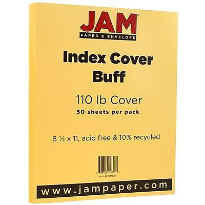 JAM Paper® Vellum Bristol Index Cardstock, 8.5 x 11, 110lb Buff Ivory, 50/pack (169854)