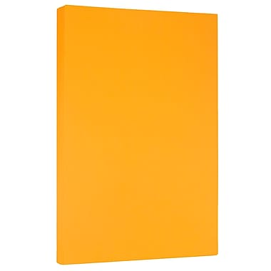 JAM Paper 8 1/2 x 14 Legal Size Paper, Ultra Orange 24lb Brite Hue, 500/Ream