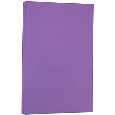 JAM Paper® 8 1/2 x 14 Legal Size Paper, Violet Purple 24lb Recycled Brite Hue, 500/Ream