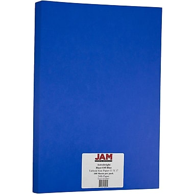 JAM Paper® Bright Colour Tabloid Paper, 11 x 17, 24lb AstroBrights® Blast-Off Blue, 100/Pack (16728467)