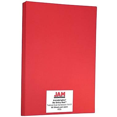 Jam Paper Papier cartonné, format tabloïde, rouge comète Astrobright, 50/paquet