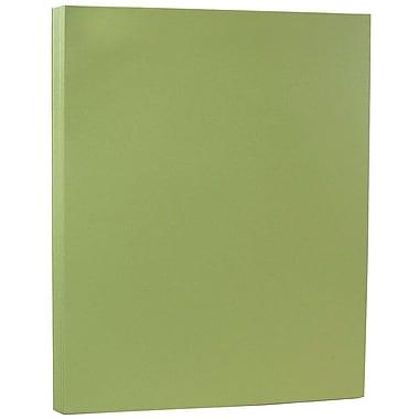 JAM Paper Papier cartonné mat, 8,5 x 11 po, 80 lb, olive, 250/paquet (16729256b)