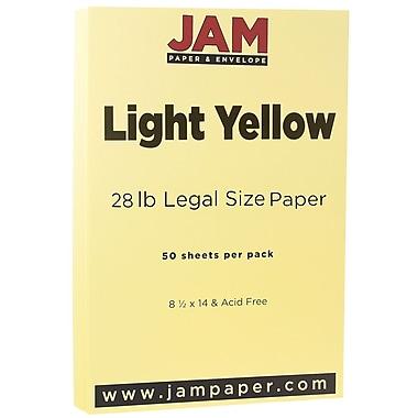 JAM Paper® Matte Legal Paper, 8.5 x 14, 28lb Light Yellow, 50/Pack (16729336)