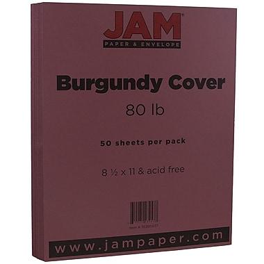 JAM Paper - Papier cartonné mat, 8,5 x 11 po, 80lb, bourgogne, 50/paquet (36395837)