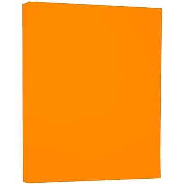 JAM PaperMD – Papier cartonné néon, 8,5 x 11 po, 43 lb, pêche fluorescente