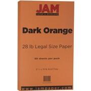 JAM Paper® Matte Legal Paper, 8.5 x 14, 28lb Dark Orange, 50/pack (64429480)