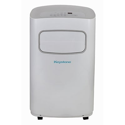 Keystone KSTAP14WCG 14,000 BTU 115V Portable Air Conditioner with Wi-Fi Control, White/Gray