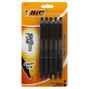 BIC® Soft Feel® Retractable Ball Pen, 1.0 mm, Black (SCSMP51-BLK)