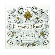 """Enchanted Forest : An Inky Quest & Coloring"" Paperback Book"