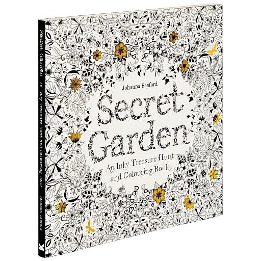 Secret Garden An Inky Treasure Hunt And Coloring Paperback Book