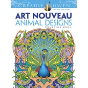 "Dover Publications ""Creative Haven® Art Nouveau Animal Designs"" Paperback Coloring Book"