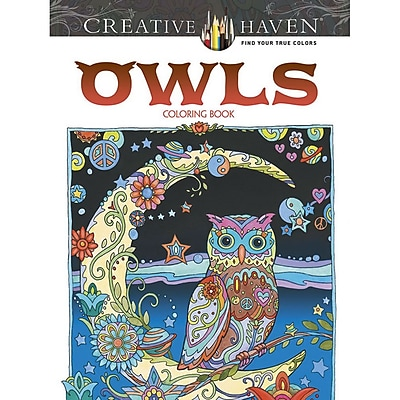 """Dover Publications """"Creative Haven® Owls"""" Paperback Coloring Book"""