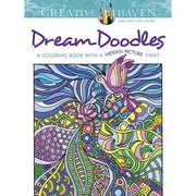 "Dover Publications ""Creative Haven® Dream Doodles: A Coloring Book with a Hidden Picture Twist"" Paperback Coloring Book"