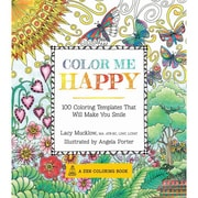 """Color Me Happy: 100 Coloring Templates That Will Make You Smile"" Paperback Book"
