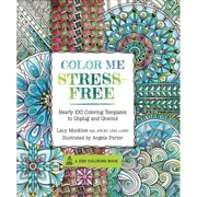"Race Point Publishing ""Color Me Stress-Free: Nearly 100 Coloring Templates to Unplug and Unwind"" Paperback Book"