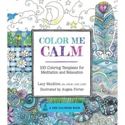 "Race Point Publishing ""Color Me Calm: 100 Coloring Templates for Meditation and Relaxation"" Paperback Book"