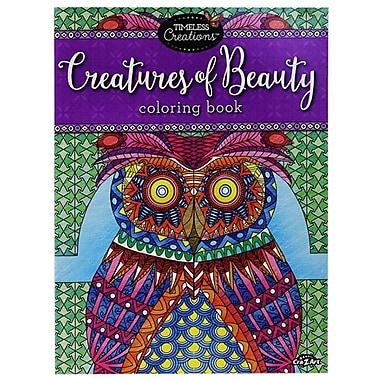 Timeless Creations Creatures Of Beauty Coloring Book
