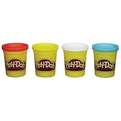 Hasbro™ Play-Doh Classic Colors Modeling Clay, 4 oz. Can, Assorted, 4/Pack