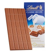 Lindt Classic Recipe Milky Bar, 3 Serve, Chocolate & Pretzel, 12 Piece/Bag