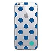 Centon OTM Floral Prints Case for iPhone 6/6S, Clear/Dotty Gone Blue (IP6V1CLR-DOT01)