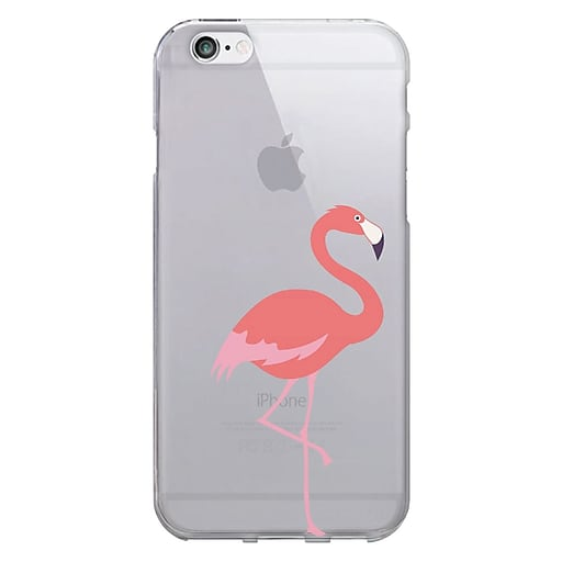 Centon OTM Floral Prints Case for iPhone 6/6S, Clear/Flamingo (IP6V1CLR-CRIT01)